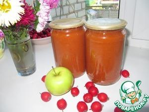 Рецепт Джем из яблок и боярышника