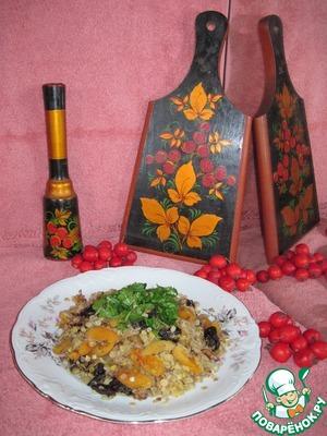 Рецепт Чечевица с курагой и черносливом.