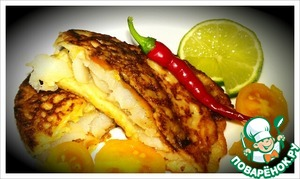 Рецепт Рыба по-мексикански в кукурузных блинчиках