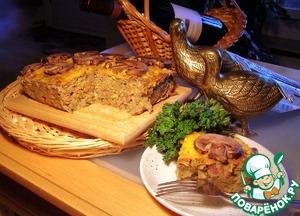 Рецепт Австралийский пирог из чечевицы, лука и грибов