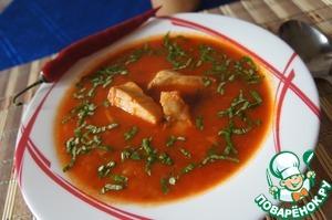 Рецепт Острый томатный суп с рыбой