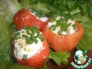 Как приготовить простой рецепт с фото Яичница в помидорах