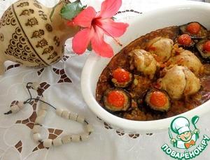 Рецепт Горох с баклажанами и курицей