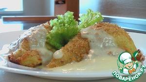 Рецепт Зразы из картофеля с мясом под молочным соусом