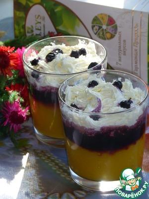 Рецепт Коктейль-десерт с манго и черникой