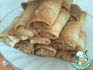 Рецепт Блинчики, фаршированные печенью