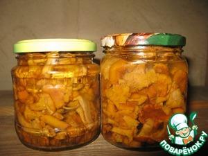 Рецепт Лисички, маринованные с луком-пореем