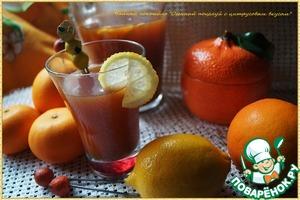 """Рецепт Чайный коктейль """"Осенний поцелуй с цитрусовым вкусом"""""""