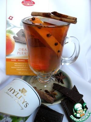 Рецепт Черный чай с амаретто и апельсином
