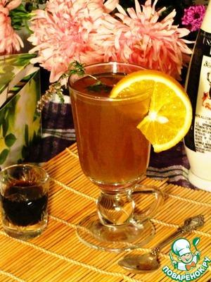 """Рецепт Согревающий чайный коктейль """"Осенний вечер"""""""