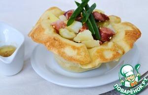 Рецепт Теплый картофельный салат в тортилье