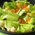 Салат из курицы с красной икрой