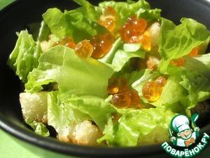 Рецепт Салат из курицы с красной икрой