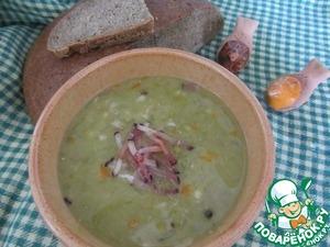 Рецепт Гороховый суп с перловой крупой.