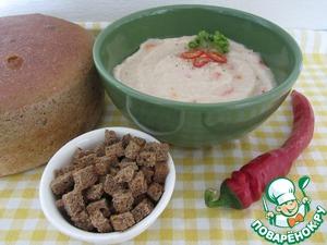 Рецепт Фасолевый суп-пюре  с топинамбуром.