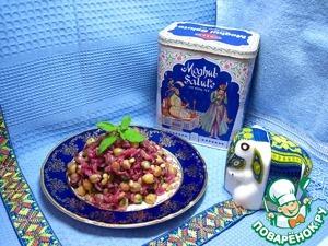Рецепт Плов с нутом и кедровыми орешками.