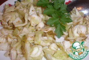 Рецепт Острый салат из капусты