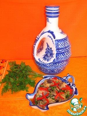 Рецепт Треска с чечевицей и грибами.