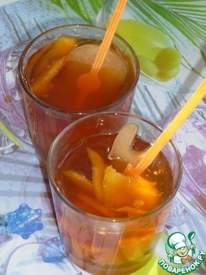 Рецепт Холодный персиковый чай