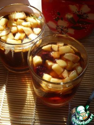 Рецепт Яблочно-ежевичный чай