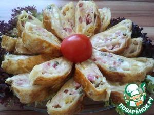 Рецепт Рулет с сыром и беконом