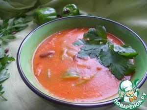Рецепт Острый томатный суп с фасолью