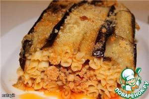 Рецепт Пастицио с баклажанами и рагу болоньезе