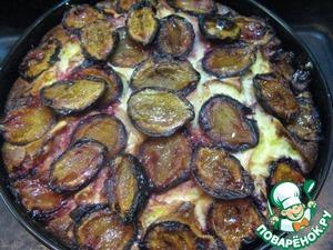 Рецепт Творожный пирог со сливой