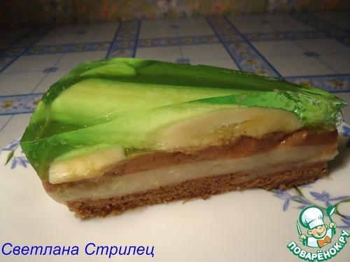 Банановый торт-желе