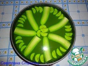 Рецепт Банановый торт-желе
