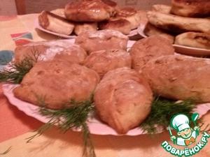 Рецепт Пирожки на кефирном тесте (с 2 разными начинками)