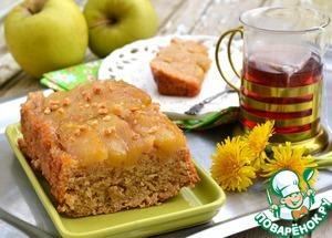 Рецепт Постный яблочный пирог-перевертыш