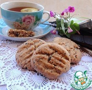 Рецепт Постное кокосовое печенье с черным шоколадом