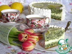 Рецепт Лимонный торт со шпинатом