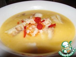 Рецепт Тайский рыбный суп на кокосовом молоке