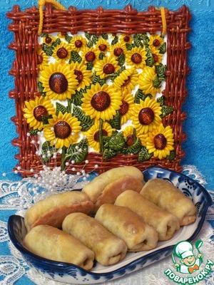 Рецепт Пирожки постные с капустой, гречкой и грибами