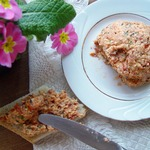 Сырная паста с тархуном и вялеными томатами