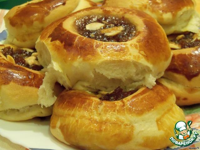 рецепт булочки с варением