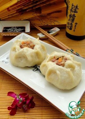 Рецепт Китайские паровые пампушки Баоцзы