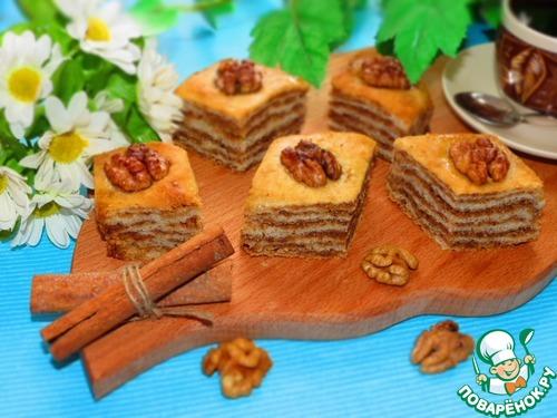 Постная пахлава вкусный рецепт приготовления с фото #9