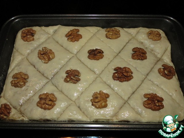 Постная пахлава вкусный рецепт приготовления с фото #5