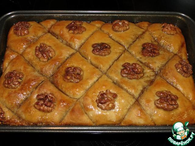 Постная пахлава вкусный рецепт приготовления с фото #7
