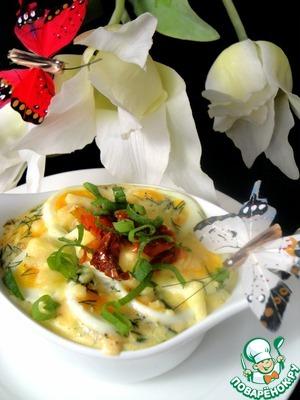 Рецепт Запечённый лосось с яйцами