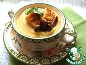 Рецепт Суп-пюре из красной чечевицы с сыром тофу и грибами