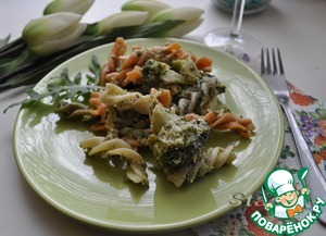 Рецепт Весенняя паста с брокколи и творогом