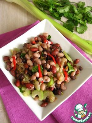 Рецепт Острый салат из фасоли
