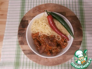 Рецепт Салат из моркови с мясом