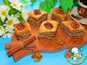 Постная пахлава вкусный рецепт приготовления с фото на Новый Год