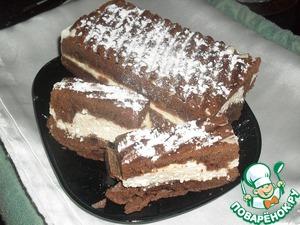 Рецепт Творожно-шоколадное пирожное