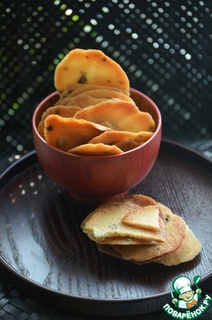 Рецепт Печенье из рисовых хлопьев с перцем